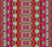Tribal vintage abstract geometric ethnic seamless pattern ornamental. Indian striped textile design royalty free illustration