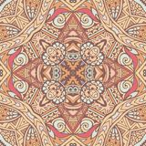 Abstract ethnic vintage seamless pattern tribal background. Tribal vintage abstract geometric ethnic seamless pattern ornamental. Indian textile design stock illustration