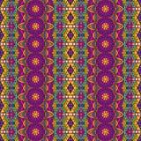 Tribal vintage abstract geometric ethnic seamless pattern ornamental. Asian striped textile design stock illustration