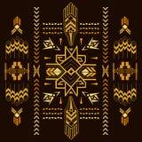 Tribal Vintage Aztec Background Stock Images