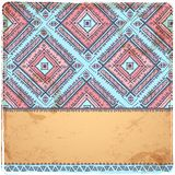Tribal vintage ethnic background Stock Images