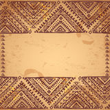 Tribal vintage ethnic background Stock Image