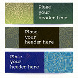 Tribal vintage ethnic banner. Hand-drawn vector doodles Stock Photography