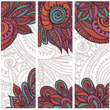 Tribal vintage ethnic banners Royalty Free Stock Photos