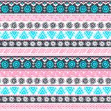 Tribal vintage ethnic pattern seamless Stock Image