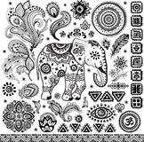 Tribal vintage ethnic pattern set Royalty Free Stock Photo