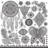 Tribal vintage ethnic pattern set. Illustration for your business Royalty Free Stock Photography