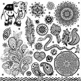 Tribal vintage ethnic pattern set Stock Image