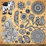 Tribal vintage ethnic pattern set. Illustration for your business Stock Photo