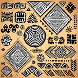 Tribal vintage ethnic pattern set Stock Photo