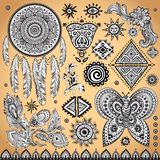 Tribal vintage ethnic pattern set Stock Images