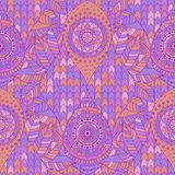 Tribal vintage ethnic seamless pattern. Tribal vintage ethnic arabesque seamless pattern. Violet, purple oriental tiled ornament, boho design. Vector background stock illustration