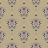 Tribal vintage ethnic seamless pattern. Aztec, mexican, navajo, african motif. Stock Images