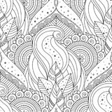 Tribal vintage ethnic seamless pattern. Tribal vintage floral ethnic seamless pattern with mandalas. Black and white oriental asian Indian ornament, boho design vector illustration