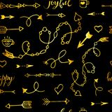 Tribal vintage gold arrows on Stock Photo