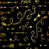 Tribal vintage gold arrows on Royalty Free Stock Photo