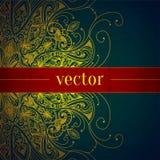 Tribal vintage vector background. Floral banner. Stock Images