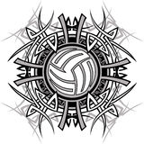 Tribal Volleyball Vector Logo. Tribal Volleyball Design Vector Logo Stock Photography