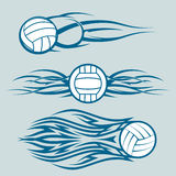 Tribal Volleyballs Royalty Free Stock Photography