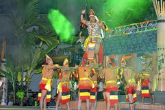Tribal War Dance Gawai Dayak royalty free stock images