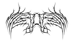 Tribal wings  Royalty Free Stock Photography