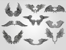 Tribal Wings Royalty Free Stock Image