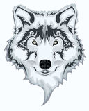 Tribal wolf. Abstract Tribal wolf illustration background Stock Photos