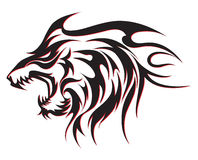 Tribal wolf tattoo Royalty Free Stock Photos