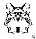 Tribal wolf Royalty Free Stock Image