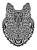 Tribal Wolf Vector Illustration Stock Photography