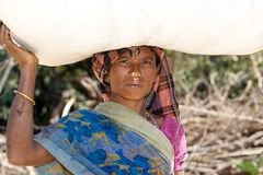 Tribal woman Stock Photo