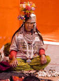 A tribal woman. At a cultural festival, at panchkula, Haryana , India Royalty Free Stock Photography