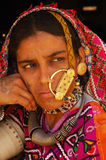 Tribal Woman in Gujarat-India Stock Photos