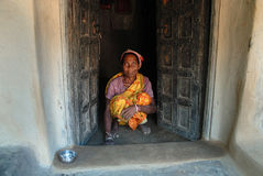Tribal Woman in India Royalty Free Stock Photos