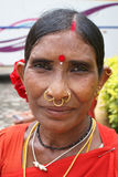 Portrait of Tribal woman, India Royalty Free Stock Images