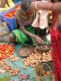 Tribal woman sells vegetables Stock Photography