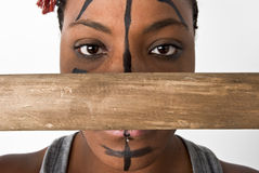 Tribal Woman with Staff Stock Photos