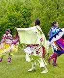 Tribal Women. OTTAWA, CANADA - MAY 28: Unidentified aboriginal women dancers in full dress regalia during the Odawa Powwow festival at Ottawa Municipal Royalty Free Stock Image