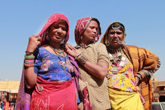 Tribal women dressed up in traditional Rajasthani costume Royalty Free Stock Image