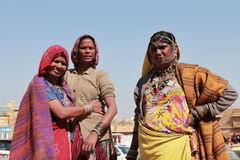 Tribal women dressed up in traditional Rajasthani costume Royalty Free Stock Images