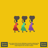 Tribal women icon. Flat style tribal women icon Royalty Free Stock Photography