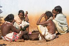 Tribal women at the market Royalty Free Stock Photo