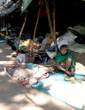 Tribal women merchant. A Tribal women merchant selling forest products near Gupteswar temple, koraput Odisha India Stock Photography