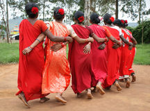 Tribal women performing Dimsa dance, India Royalty Free Stock Images