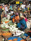 Tribal women sell fresh vegetables Stock Photos