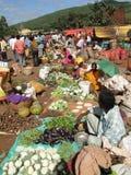 Tribal women sell fresh vegetables Royalty Free Stock Photos