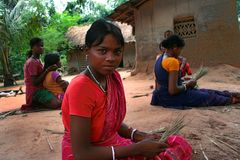 Tribal Women working Royalty Free Stock Photography