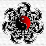 Tribal Ying Yang Illustration Stock Photos