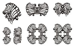 Tribal zebra symbols Stock Image
