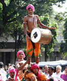 Tribals выполняет танец dappu Стоковые Фотографии RF